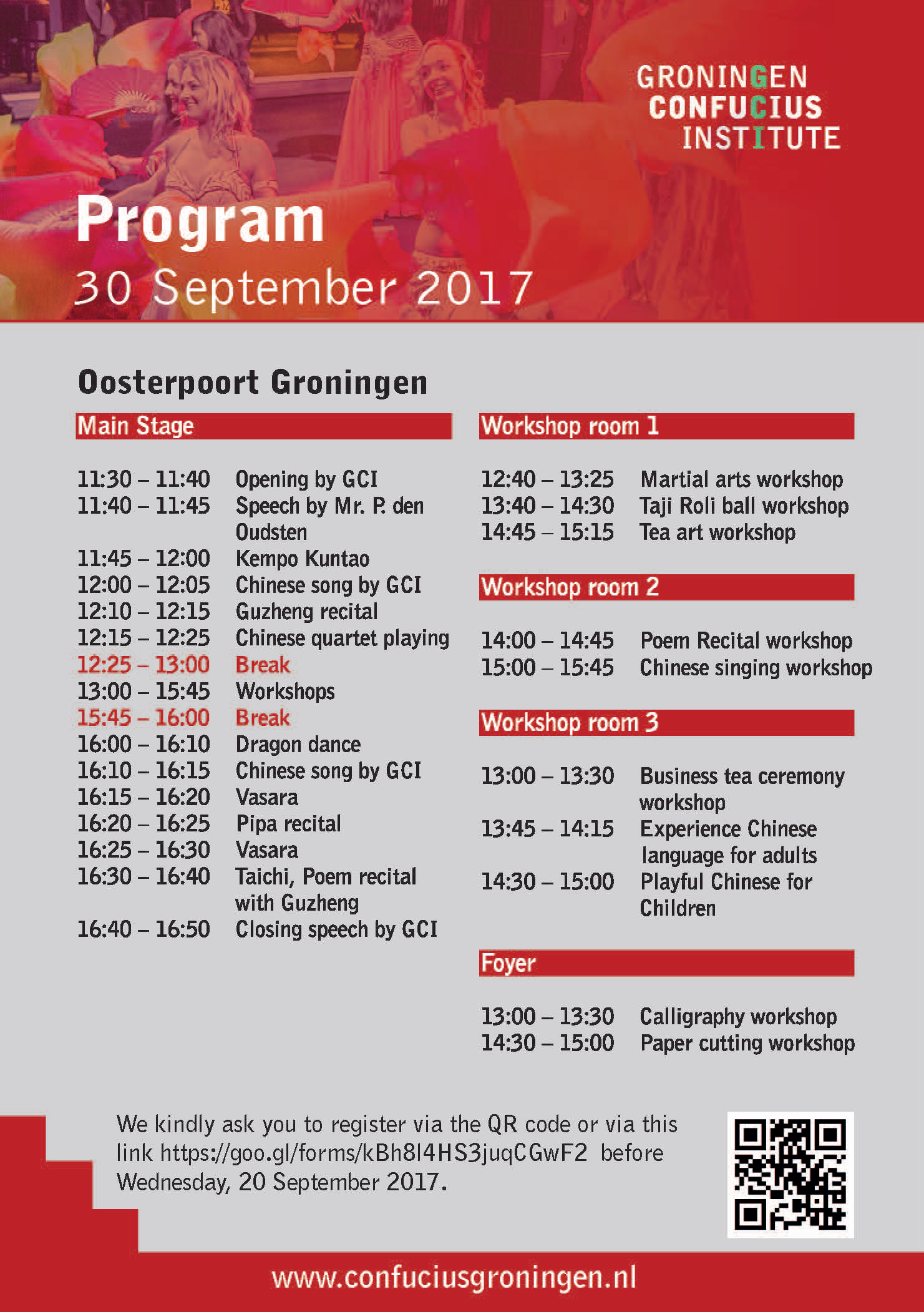 Programme Chinese Festival 2017