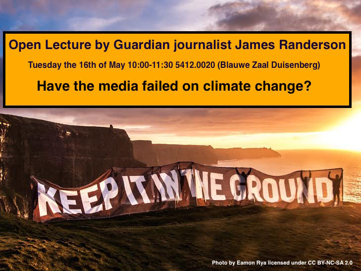lecture by James Randerson, a former science journalist at The Guardian