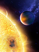 'Artist impression' of exoplanet HD 189733 b