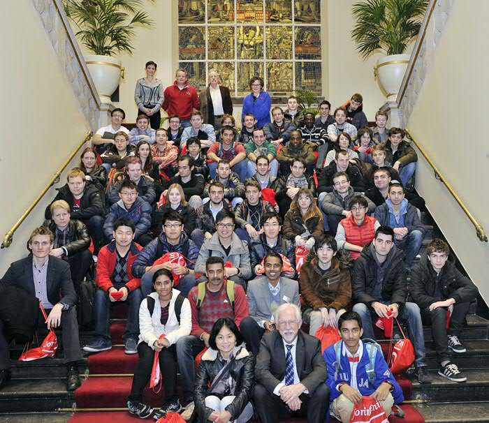 The participants together with University of Groningen President Sibrand Poppema. Pictures: Elmer Spaargaren