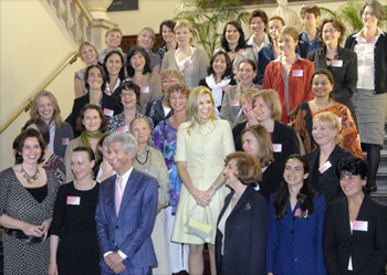 HRH Princess Máxima, Minister Plasterk and the Rosalind Franklin Fellows
