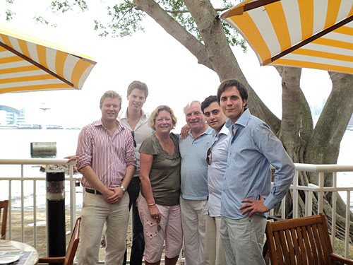 University of Groningen students and alumni at the Royal Yacht Club of Hong Kong
