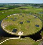 The core station of the LOFAR telescope near Exloo, Netherlands