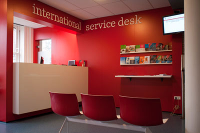 The new International Service Desk (photo: Marcel Spanjer)