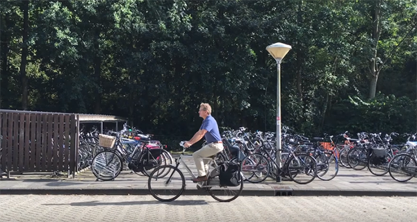 Bicycle parking space for Nobel Laureates