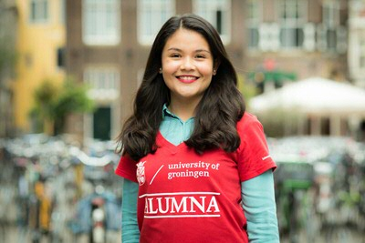Dilva Joya - alumna International Relations and International Organization from Mexico (photo by Gerhard Taatgen)