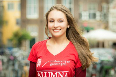 Elisa Ahovuori - alumna International Relations & International Organization from Finland (photo by Gerhard Taatgen)
