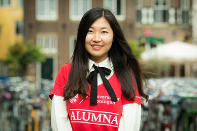 Shishi Wu - alumna Economics & Business Economics from China (photo by Gerhard Taatgen)