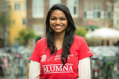Tiana Xavier - alumna LLB International and European Law (photo by Gerhard Taatgen)