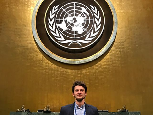 Dominic at the UN.