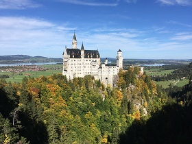 Neuschwanstein Castle view from Marys Bridge