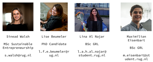 Faculty Council 2020-2021: Sinead, Lise, Lina, Max