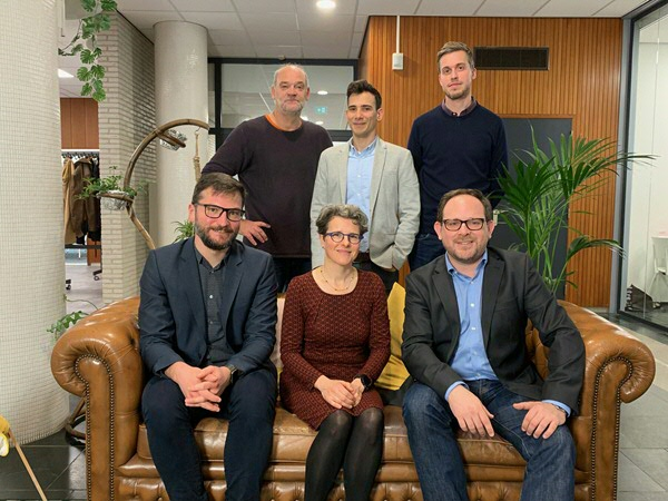The DRC team (Back row left to right: Hans Gankema, Daniel Feitosa, Anno Bunnik. Front row left to right: Oskar Gstrein, Anne Beaulieu, Andrej Zwitter)