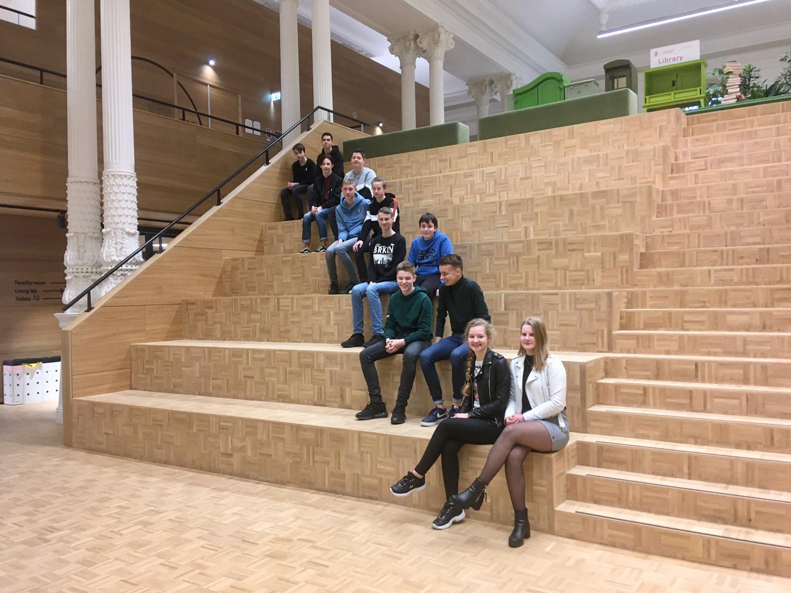 Scholieren uit Tytsjerksteradiel op Campus Fryslân