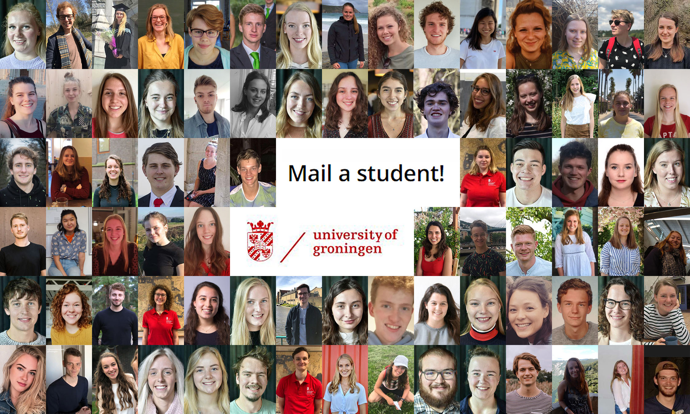 Mail a student of the University of Groningen!