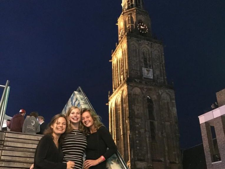 Additional bucket-list activity: enjoy the view of the Martini Tower from the VVV building on the Grote Markt