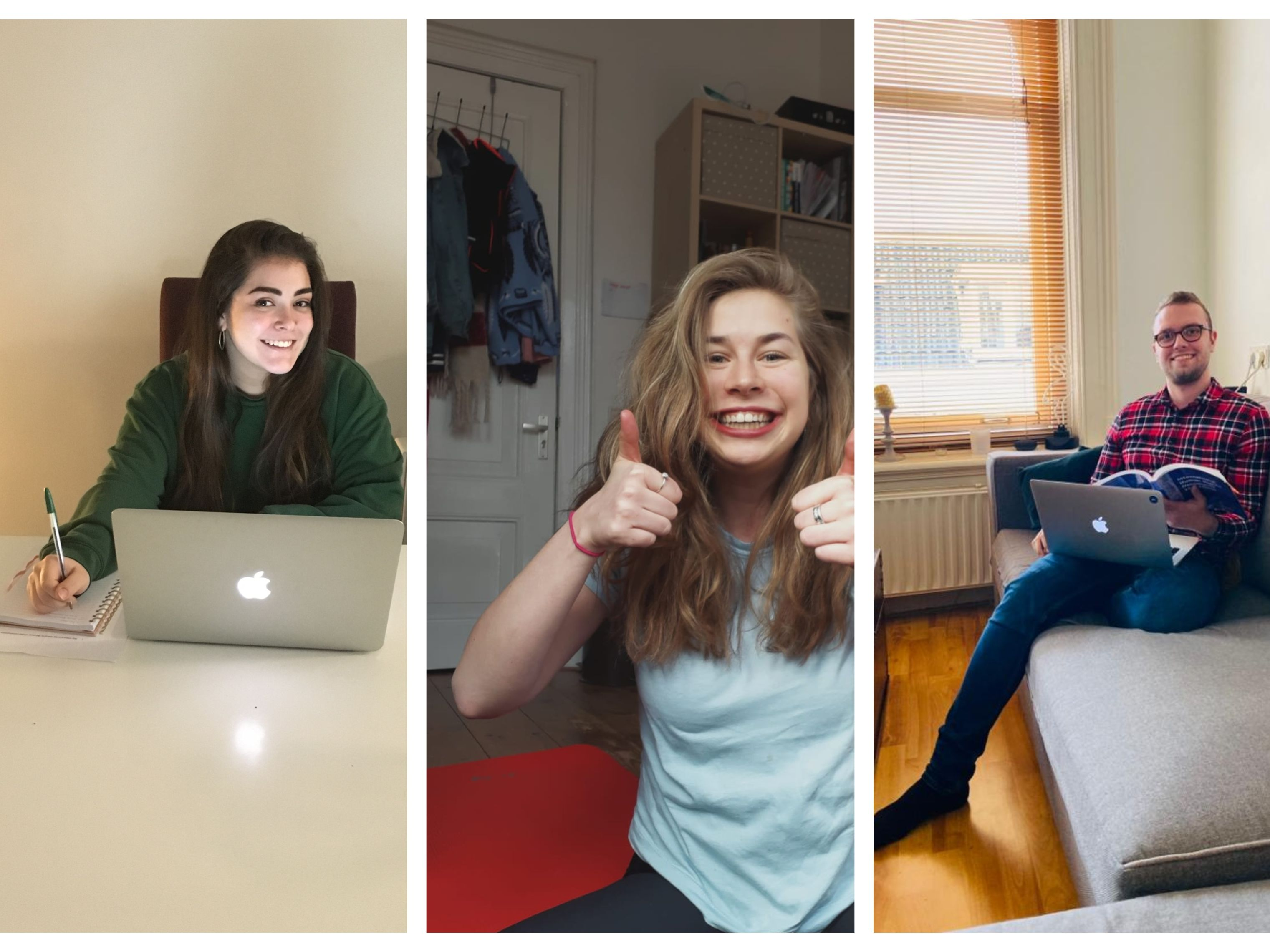 Studying, working, and exercising from home – that's our routine!