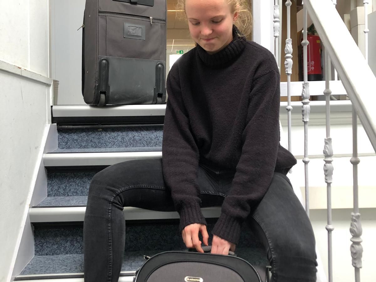 be prepared to struggle up dutch stairs with your suitcases