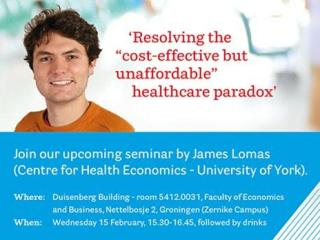 James Lomas of the University of York's Centre for Health Economics visited the Faculty of Economics and Business in February