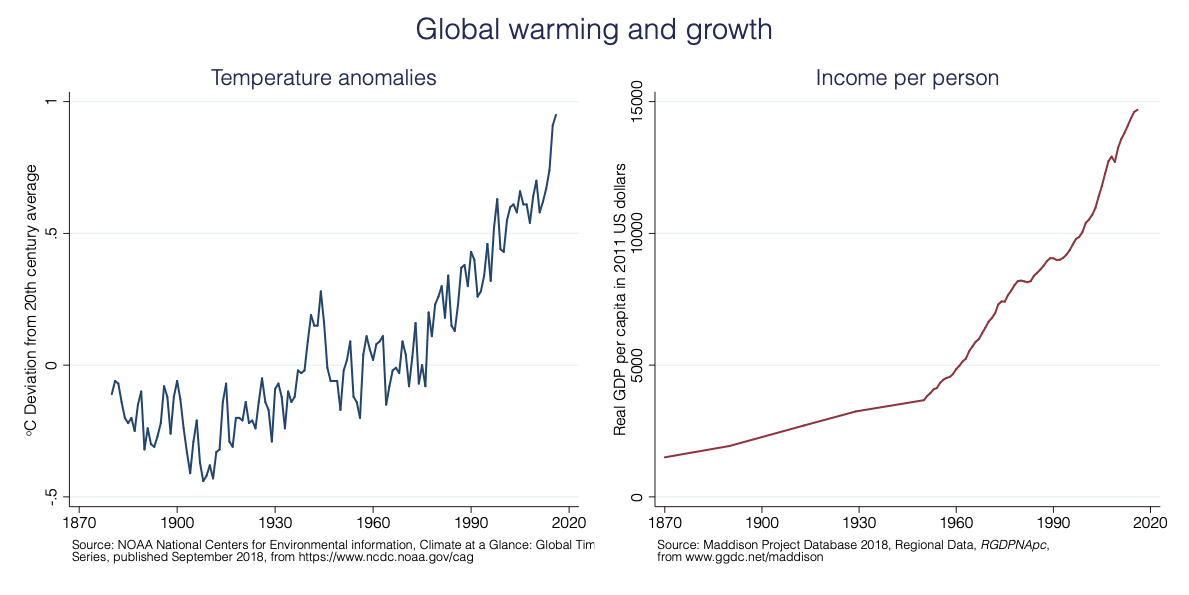 Global warming and growth