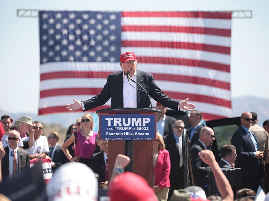 Donald Trump on the campaign trail by Gage Skidmore