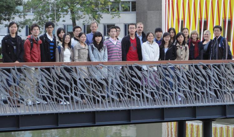 Fudan Double Degree BSc students, Cohort 2010-2012, together with FEB staff