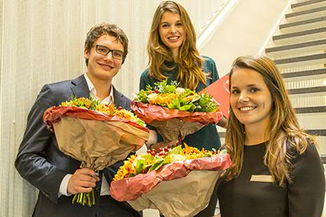 Mark Damink, Lieke Kools and Mariska Verstappen