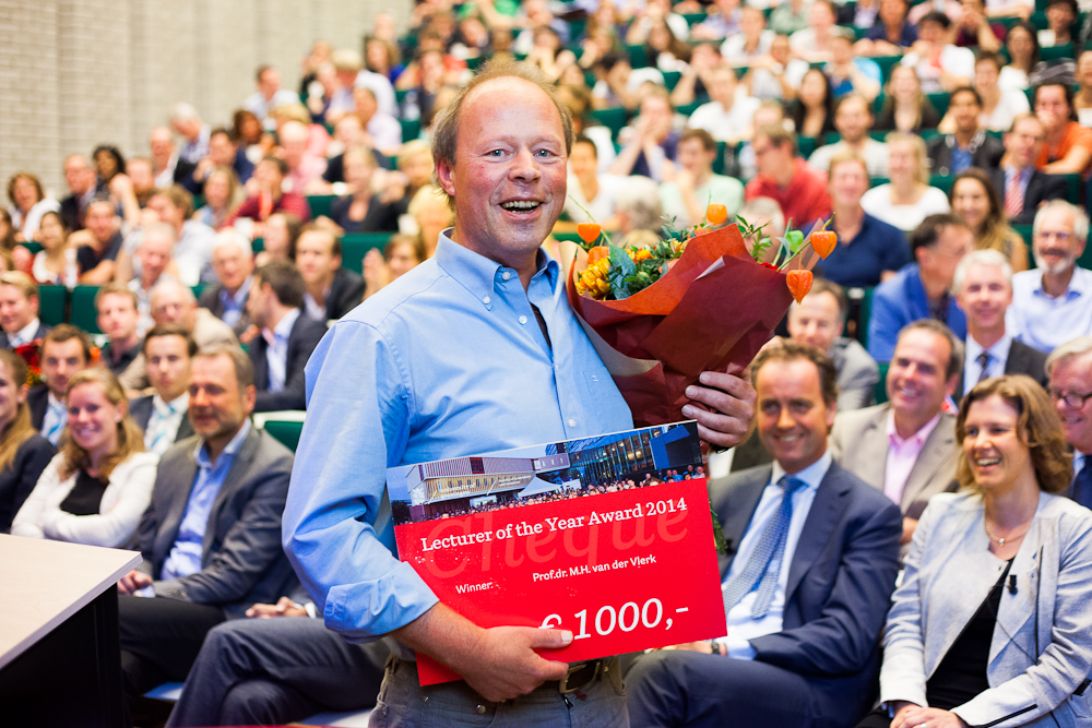 Best lecturer of the year, Prof. Maarten van der Vlerk