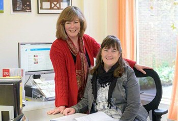 Marion Vorrink (secretary to the board) en Siepie Blom (tuition and graduation officer)