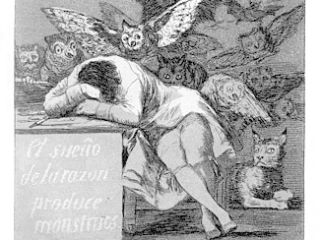 Francesco de Goya, El sueño de la razón produce monstruos, Source: wiki commons
