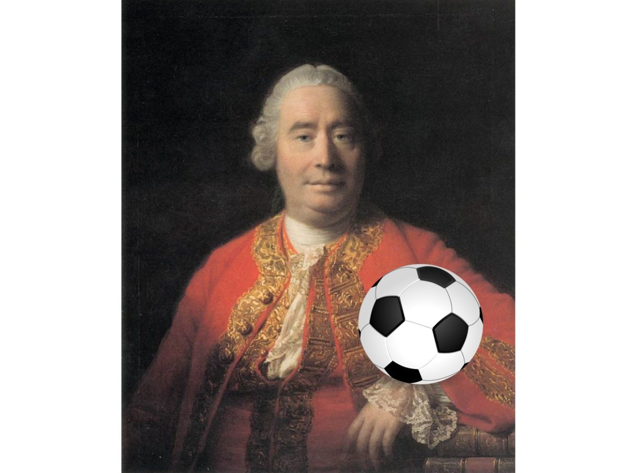 David Hume by Allan Ramsay (plus football)