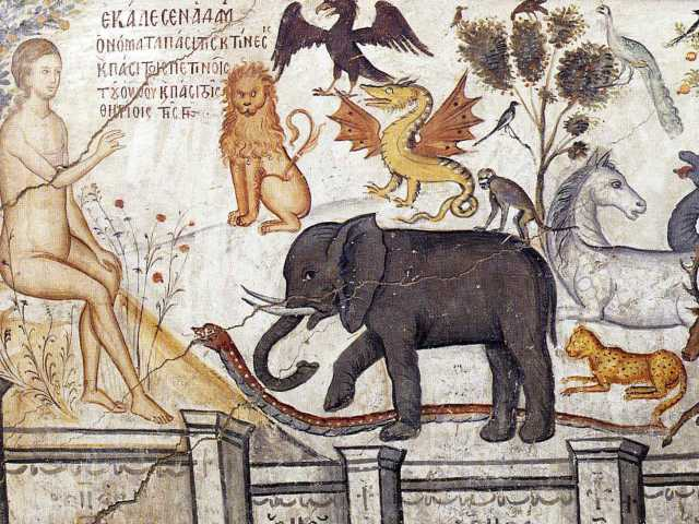 Moni Ayou Nikolaou Adam naming animals (wikicommons)