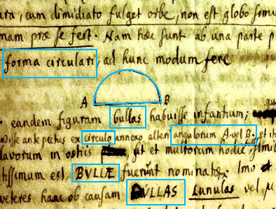 Modern methods of pattern recognition and machine learning allow to relate the visual and textual elements. (Example from letter by Gisbert Cuper (1674), Royal Library (The Hague), ms. 72 C 18, f. 20 recto, courtesy of dr. Jetze Touber).