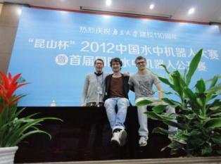 RUG team in internationaal robotvis toernooi