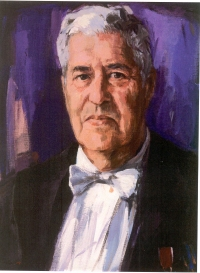 Prof.dr. Hans Wijnberg, painted by Carla Rodenburg (collection University of Groningen)