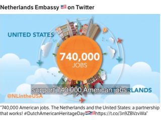 US jobs and economic ties with the Netherlands