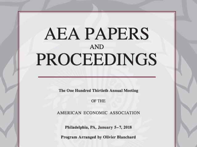 AEA Papers and Proceedings