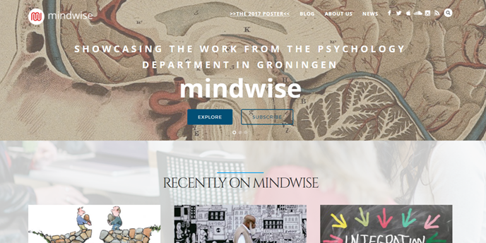 Mindwise - weblog showcasing Psychology Groningen