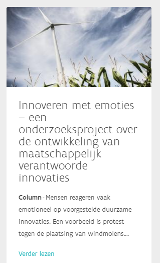 Column on the MVO Vlaanderen's webpage