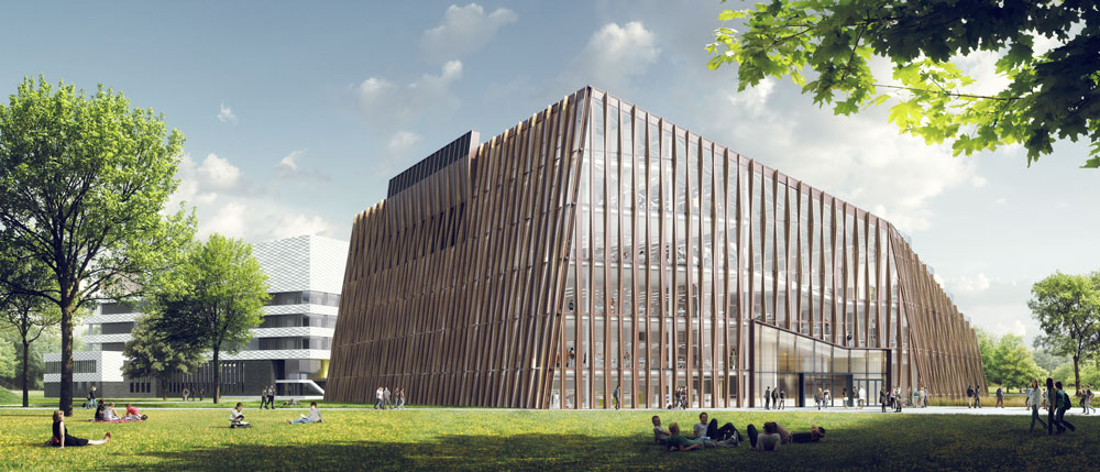 Design of the exterior of the Energy Academy