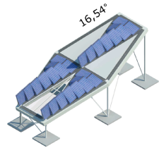 Solar panel roof with windows for daylight