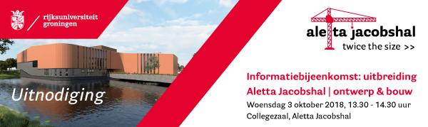 Information meeting on expansion of Aletta Jacobshal | 3 October