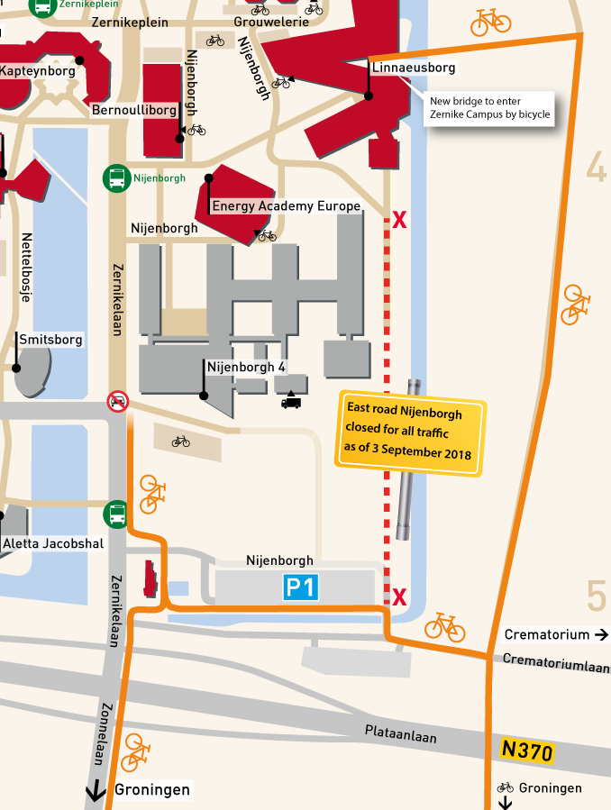 The bicycle path behind Nijenborgh 4 will be closed as of 3 September