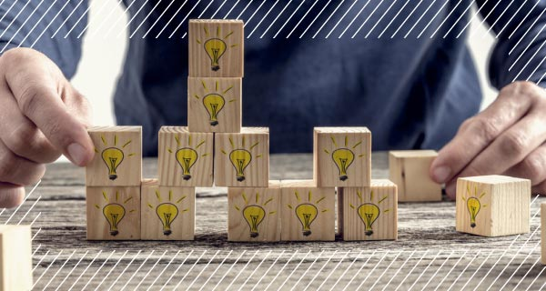 blocks with light bulbs