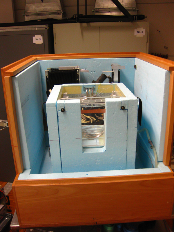 Water Calorimeter consists of a water phantom, insulation and temperature stabilisation system.