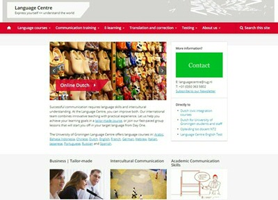 New website of the Language Centre