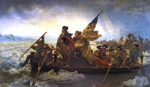 Washington crossing the Deleware by Emanuel Leutze