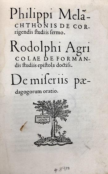 Volgens humanisten als Agricola worden mensen niet geboren, maar gevormd.