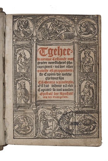 Titelpagina van Tgeheele nieuwe Testament, Jacob van Liesvelt, 1541 (UB Groningen)