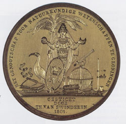 Medal from the Society for Natural Sciences, founded by Van Swinderen in 1801